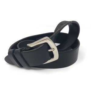 Gap Black Leather Belt with Silver accents